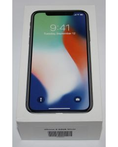 iPhone X 64GB Silver Open box new