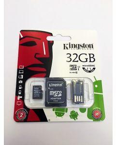 Kingston 32GB Micro SD med adaptrar