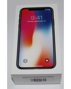 iPhone X 64GB space grey Open box new