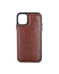 Fitted Leather Case For iPhone 11 Brown