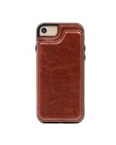 Fitted Leather Case For iPhone 7/8 Brown